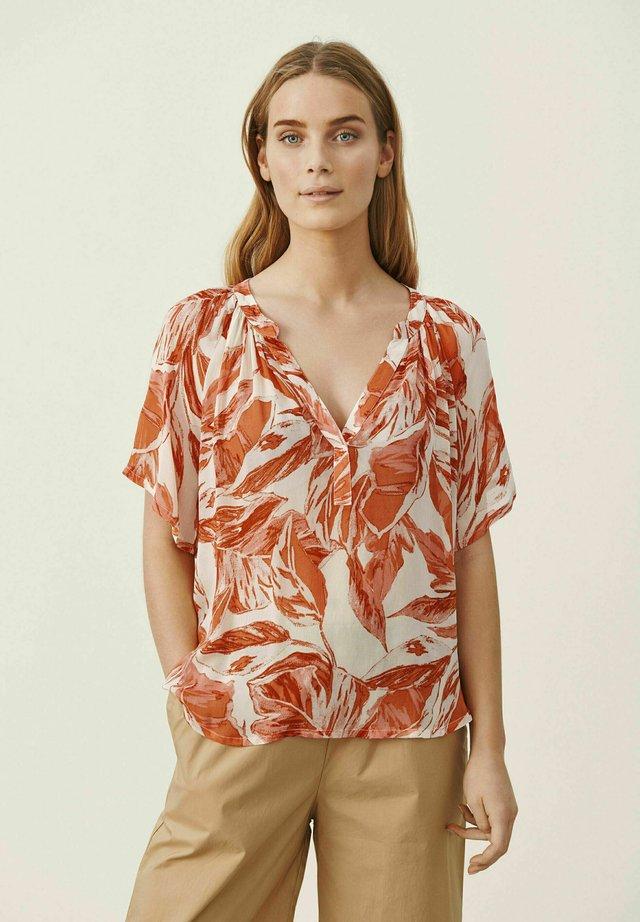 Camicetta - ginger palm print