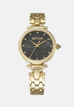 GOLD & BLACK CHAIN WATCH - Orologio - gold-coloured
