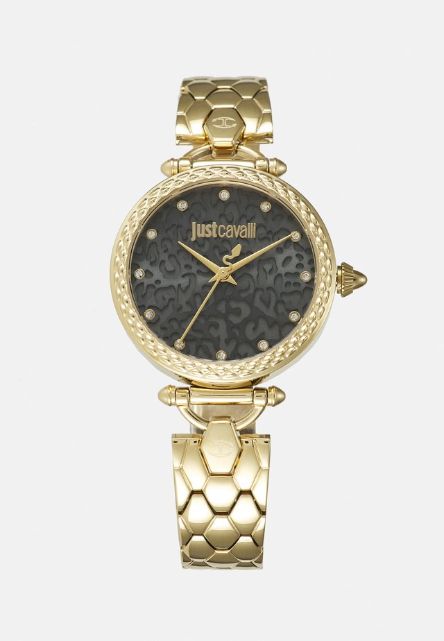 GOLD & BLACK CHAIN WATCH - Hodinky - gold-coloured
