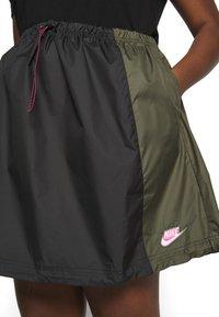 Nike Sportswear - SKIRT - A-line skirt - black/twilight marsh - 5