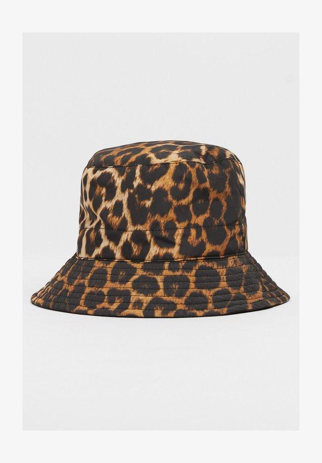 IM LEOPARDEN-LOOK - Hat - black