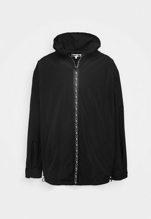 ZIP TECH WIND - Short coat - darkest black