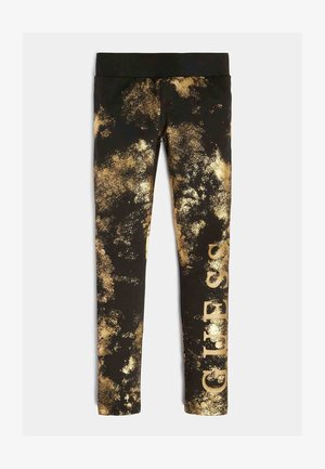 GLITZER - Leggings - goldenfarbe