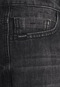 TOM TAILOR - JOSH - Denim shorts - clean dark stone grey denim - 2