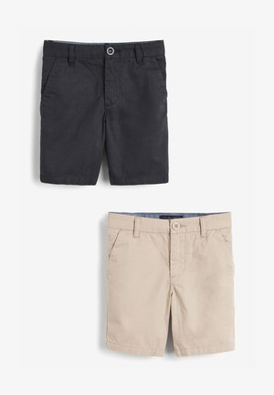 2 PACK  - Shorts - beige/black