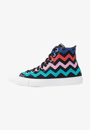 CHUCK TAYLOR ALL STAR  - Korkeavartiset tennarit - black/university red/peony pink