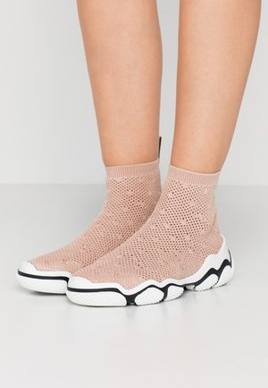 High-top trainers - nude