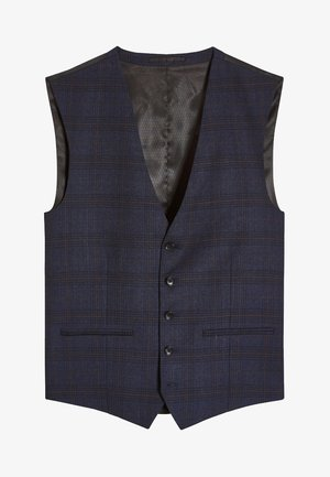 SIGNATURE CHECK SLIM FIT SUIT: WAISTCOAT - Vesta do obleku - blue