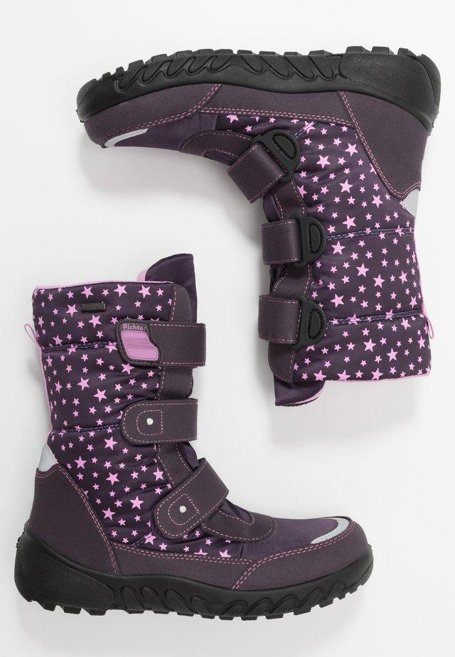Winter boots - aubergine/lipstick