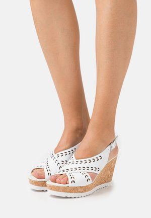 Sandalias con plataforma - weiss