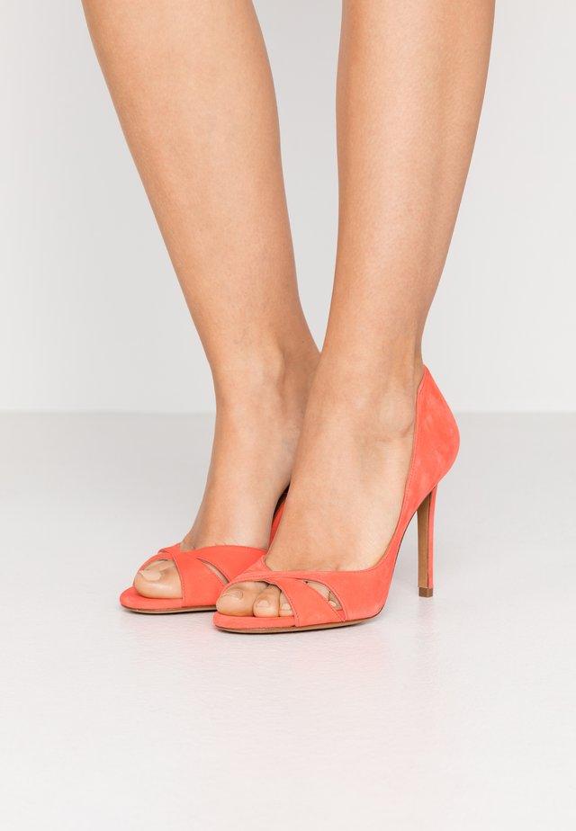 Peeptoe heels - poppy