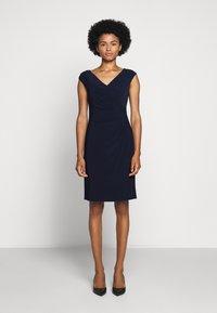 Lauren Ralph Lauren - MID WEIGHT DRESS - Shift dress - lighthouse navy - 0