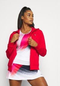 Lacoste Sport - HOOD JACKET - Zip-up sweatshirt - rouge - 3
