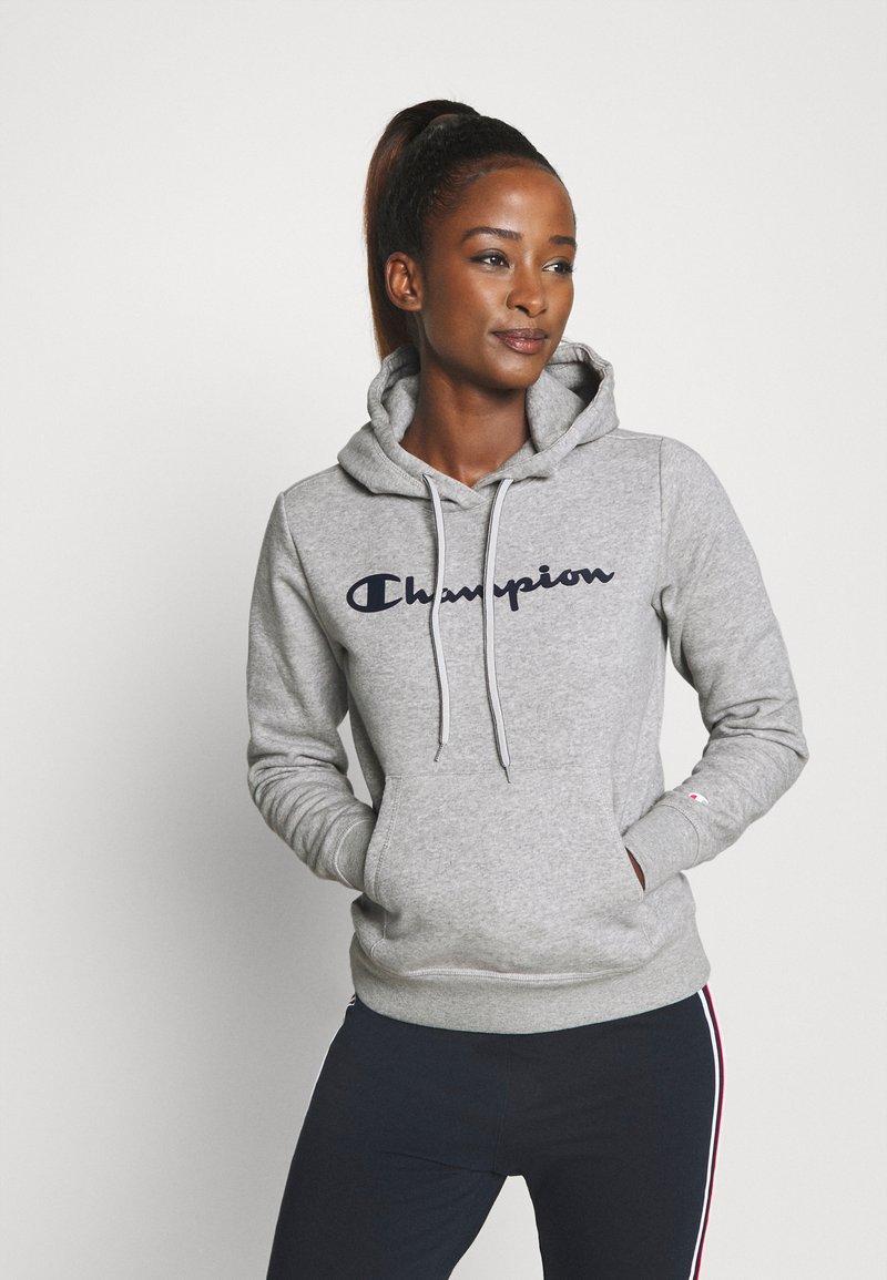 Champion - ESSENTIAL HOODED LEGACY - Bluza z kapturem - mottled grey