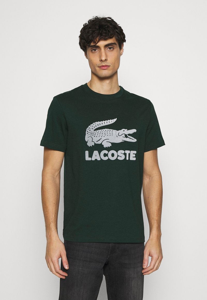 Lacoste - T-shirt med print - sinople