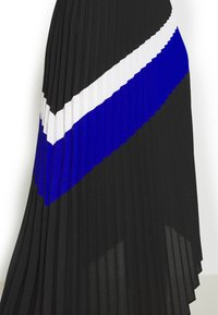 DKNY - PULL ON PLEATED ASYMM - A-snit nederdel/ A-formede nederdele - black/ivory/electric blue - 4