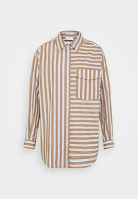 Marc O'Polo DENIM - BLOUSE LONGSLEEVE FLAP POCKET - Button-down blouse - multi/milky coffee - 5