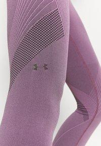 Under Armour - RUSH SEAMLESS ANKLE - Leggings - polaris purple - 5
