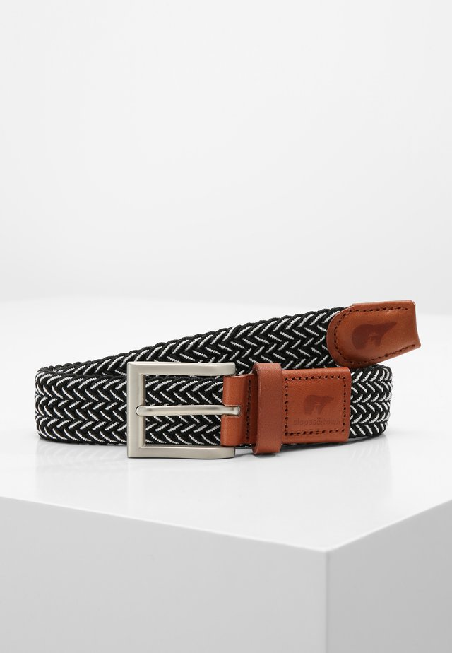 JUNIOR - Ceinture tressée - black/white