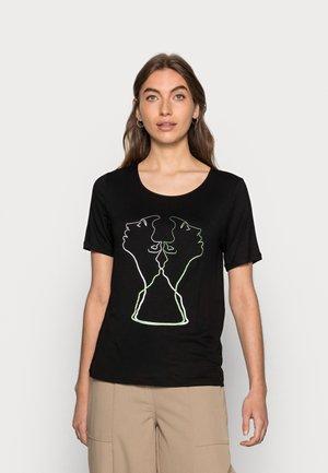 TWIN - Camiseta estampada - black