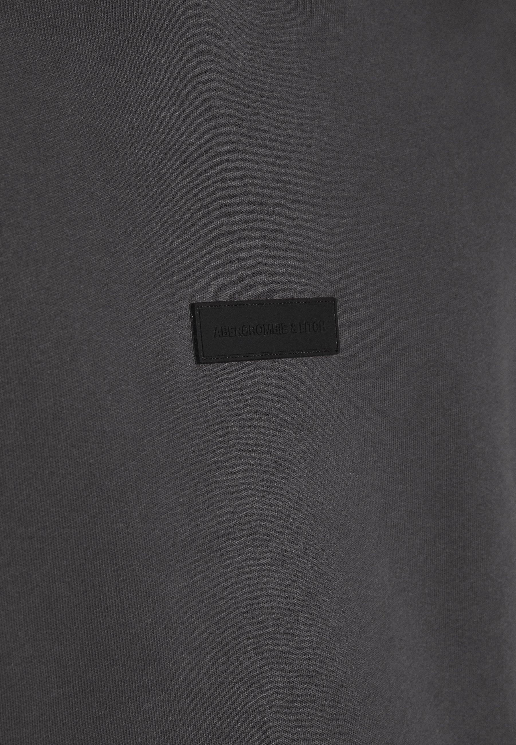 Abercrombie & Fitch Patch Perfect - Bluza Z Kapturem Asphalt