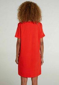 Oui - Jersey dress - fiery red - 2