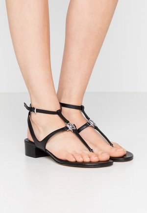 LITA THONG - T-bar sandals - black