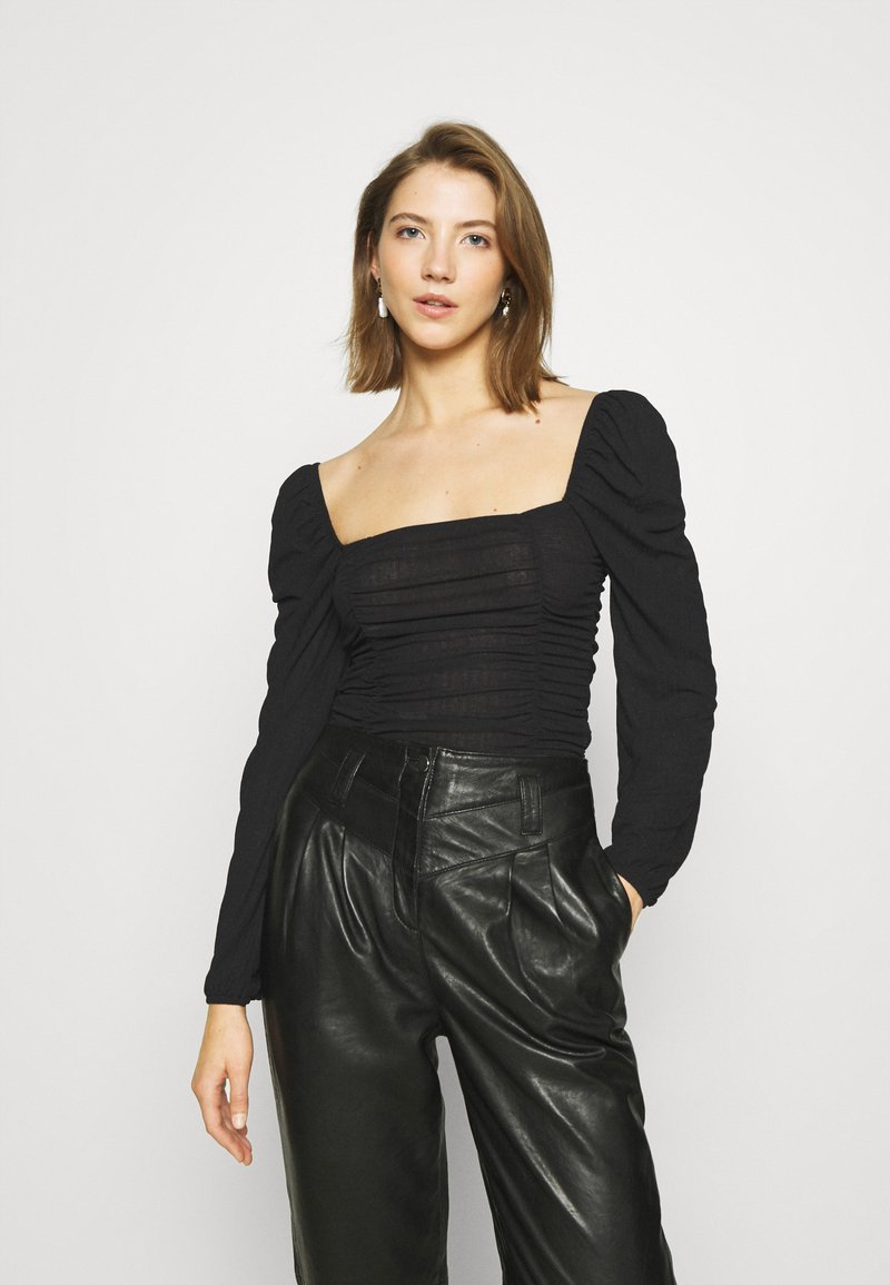 Nly by Nelly - SHEER TOUCH TOP - Long sleeved top - black
