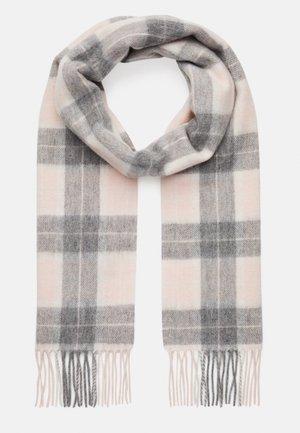 SET - Scarf - pink/grey tartan