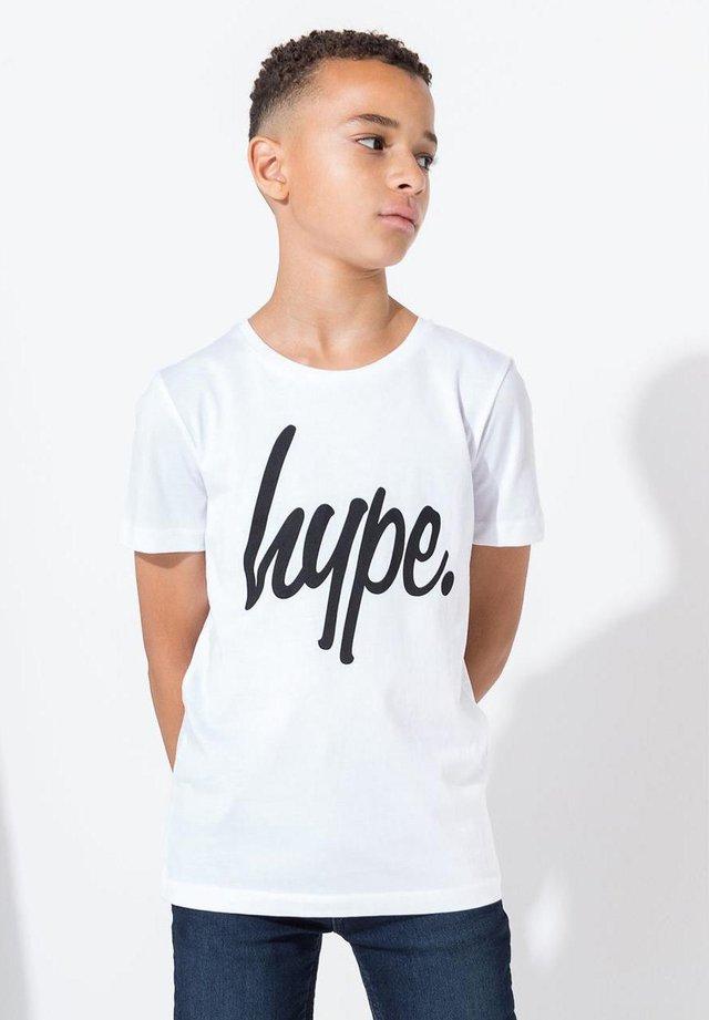 HYPE SCRIPT - T-shirts print - white