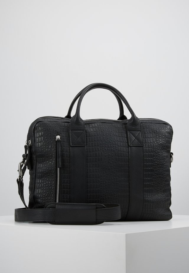 DUNDEE CLEAN BRIEF ROOM - Aktówka - black croc