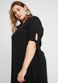 Glamorous Curve - WITH TIES V NECK MINI DRESS - Shirt dress - black - 6