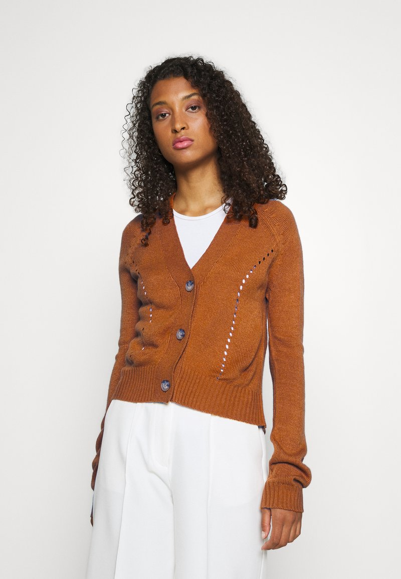 JDY - JDYFLORAL - Cardigan - brown