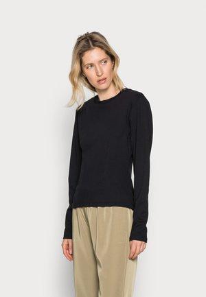 ANKA TEE - Long sleeved top - black