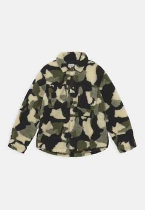 PILE - Fleece jacket - dark khaki green