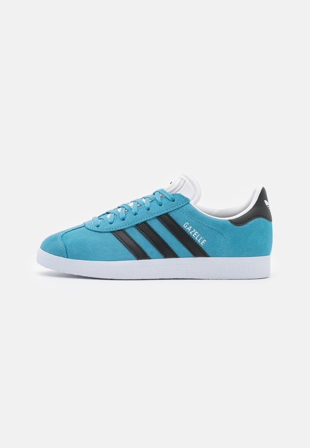GAZELLE UNISEX - Sneakers - hazel blue/core black/footwear white