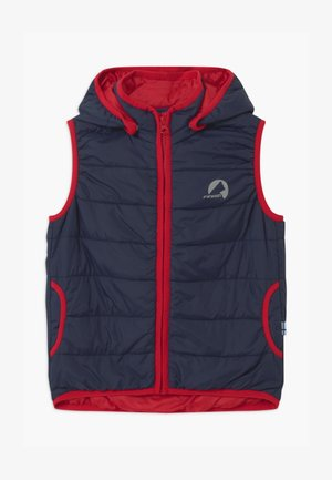 VANULI UNISEX - Bodywarmer - navy/red