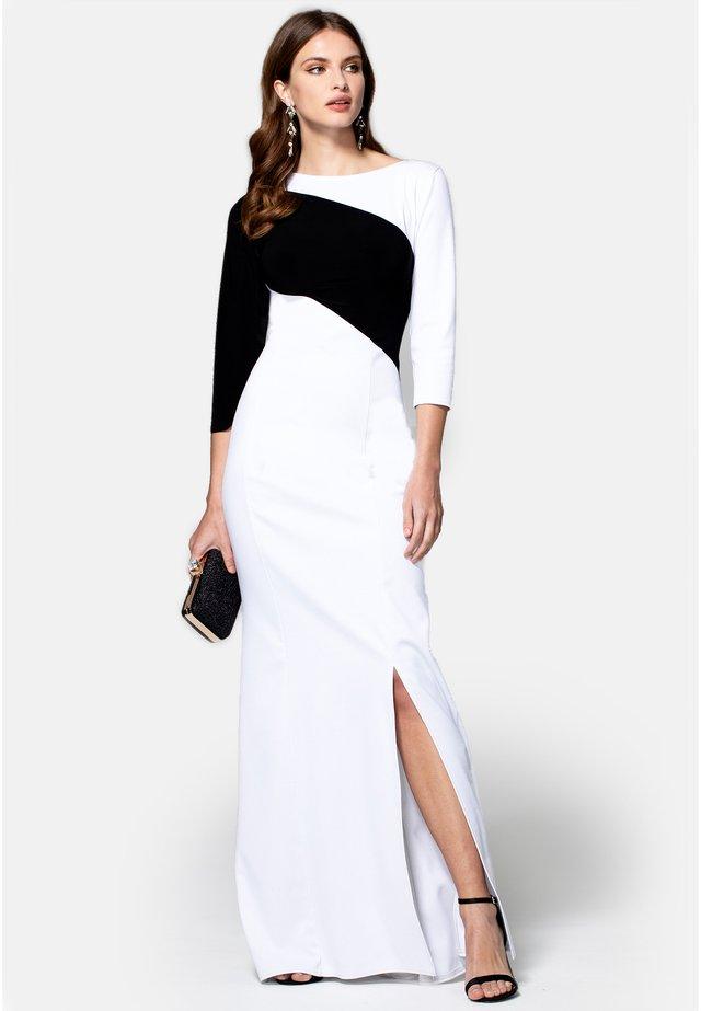 CONTRAST SASH - Suknia balowa - white with black stripe
