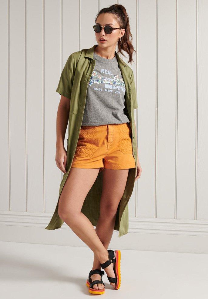 Superdry - VINTAGE LOGO - Print T-shirt - dark marl