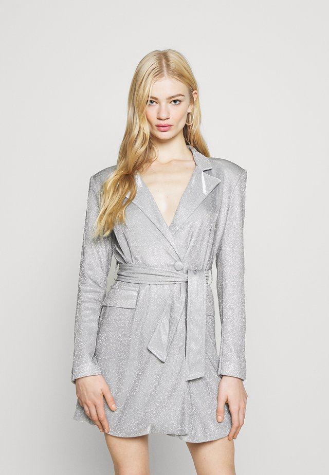 JUNO DRESS - Vestito elegante - silver metallic