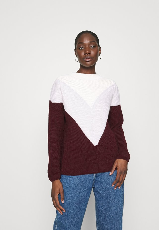 COLORBLOCK SWEATER - Jersey de punto - wine tasting