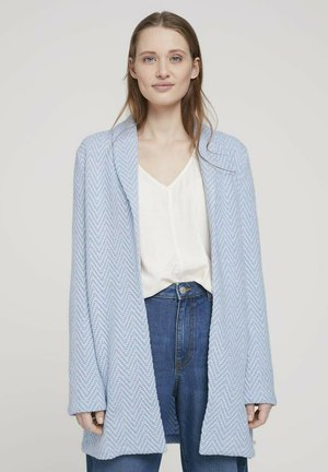 Blazer - mid blue white structure