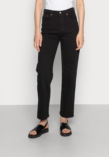 RIBCAGE STRAIGHT ANKLE - Straight leg jeans - black heart