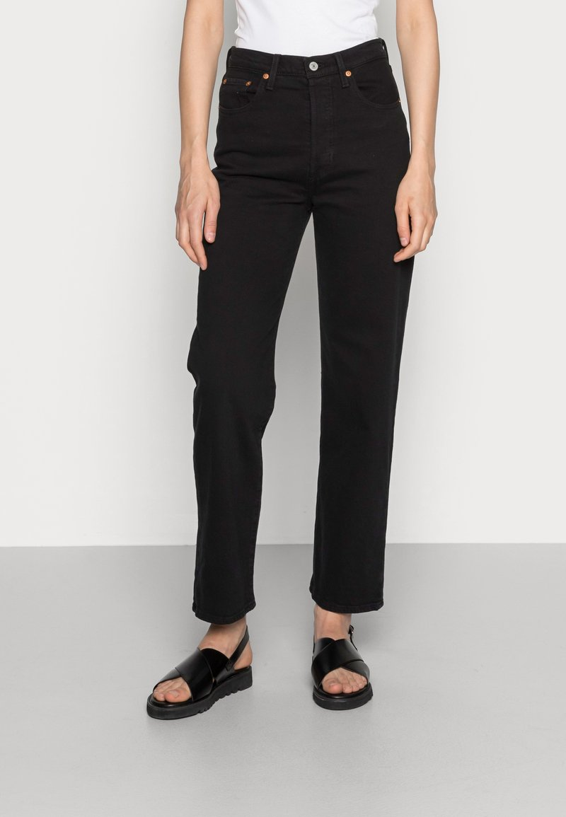 Levi's® - RIBCAGE STRAIGHT ANKLE - Straight leg jeans - black heart