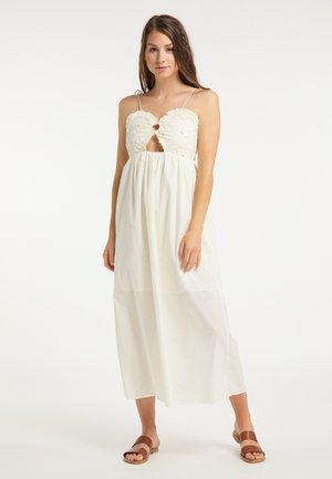 Maxi šaty - wollweiss