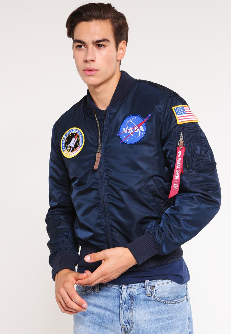 Alpha Industries - NASA - Bomber Jacket - replica blue