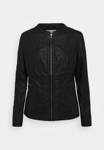 SC-AMALIE 4 - Faux leather jacket - black