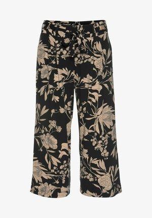 Trousers - schwarz-taupe-bedruckt