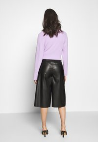 Who What Wear - THE VEGAN CULOTTE - Pantalon classique - black - 2