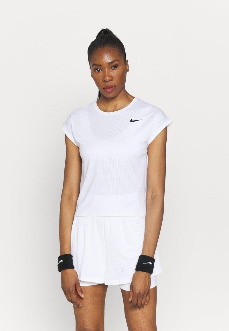 Nike Performance - T-shirts - white/black